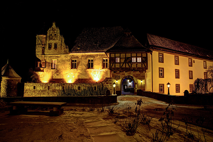 Stettenfels Castle by Night