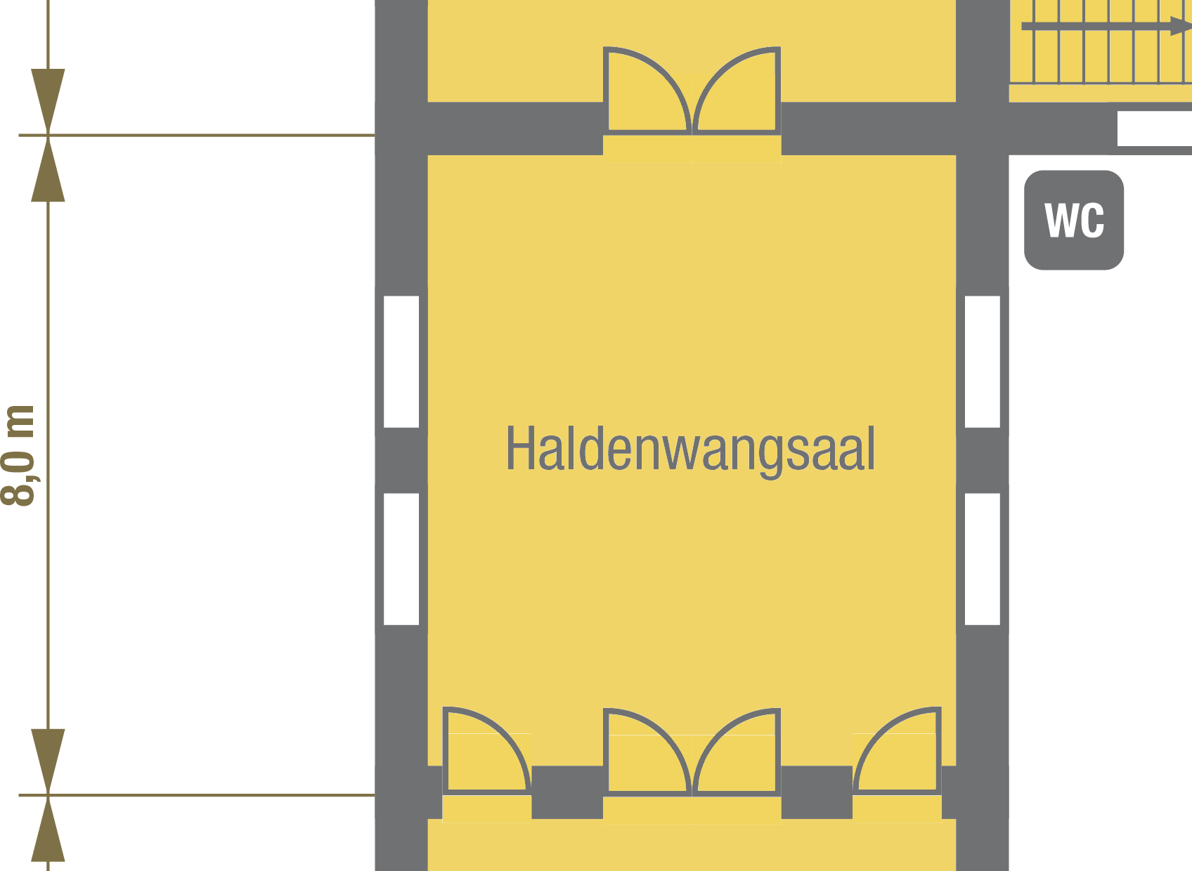 floor plan Haldenwang Hall, Stettenfels Castle, Germany