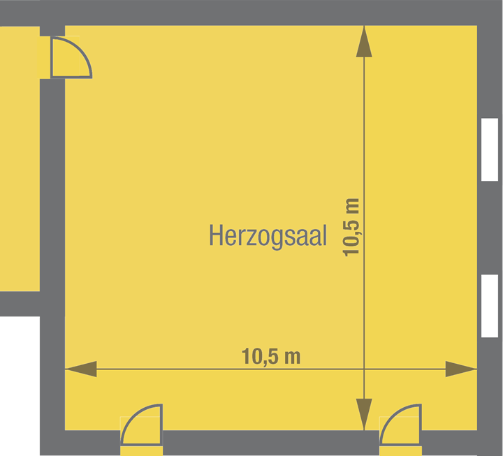 floor plan Herzog Hall, Stettenfels Castle, Germany