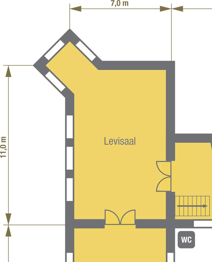 floor plan Levi Hall at Stettenfels Castle